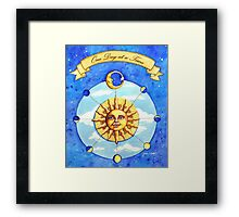 One Day at a Time - watercolor painting Framed Print