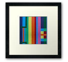 Geometric patterns in multi-colors Framed Print