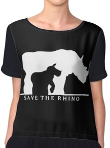 Save The Rhino Chiffon Top
