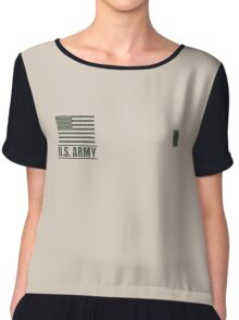 First Lieutenant Infantry US Army Rank by Mision Militar ™ Chiffon Top