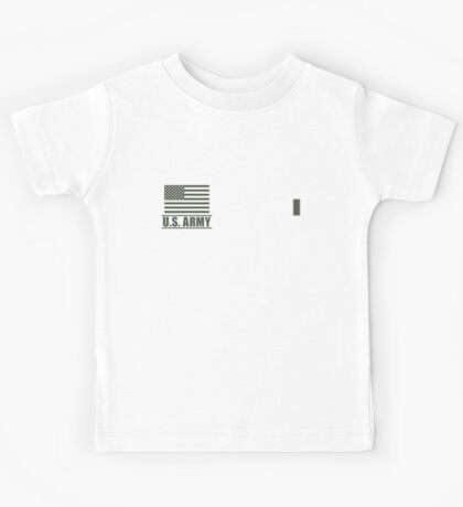 First Lieutenant Infantry US Army Rank Desert by Mision Militar ™ Kids Tee