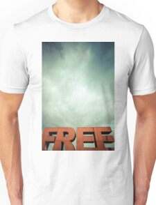 Capital letters FREE with cloudy sky Unisex T-Shirt