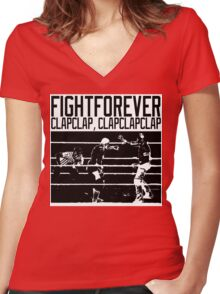 Fight Forever Women's Fitted V-Neck T-Shirt