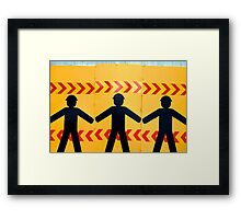 Street workers Framed Print