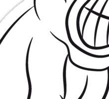 Gorillas agro evil Sticker