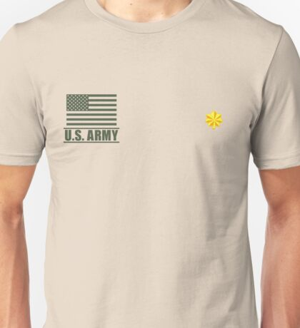 Major Infantry US Army Rank Desert by Mision Militar ™ Unisex T-Shirt