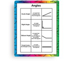 Angles Geometry Math Rainbow Background Canvas Print