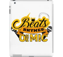 Beats, Rhymes and One Mic iPad Case/Skin