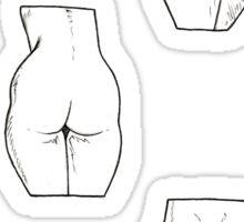 déculotté Sticker