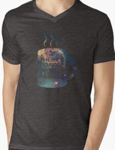 There's Coffee In That Nebula! Mens V-Neck T-Shirt