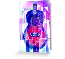 5161i2 Guitar with Face Greeting Card