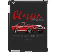 Classic Muscle. 1967 Mustang Shelby GT500 (red) iPad Case/Skin