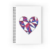 Transparent Geometric Heart Spiral Notebook