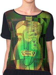 5161 Guitar with Face Chiffon Top