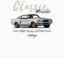 Classic Muscle. 1967 Mustang Shelby GT500 (beige) Unisex T-Shirt