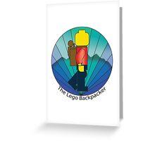 The Lego Backpacker Greeting Card