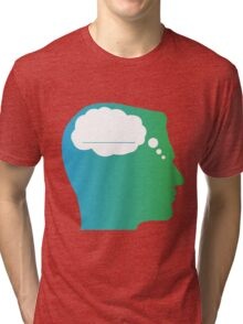 What About Blank Logo w/o Words Tri-blend T-Shirt