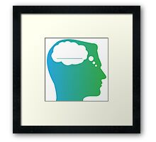 What About Blank Logo w/o Words Framed Print