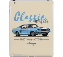 Classic Muscle. 1967 Mustang Shelby GT500 (blue) iPad Case/Skin