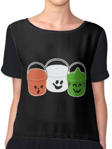 Happy Meal in Gray Chiffon Top