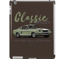 Classic Muscle. 1967 Mustang Shelby GT500 (green) iPad Case/Skin