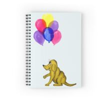 Cartoon Dog and Balloons Spiral Notebook