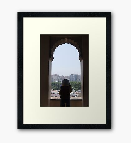 The Lego Backpacker at Malaga Castle Framed Print