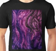 Cthulhu Dreaming in Purple Unisex T-Shirt