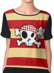 Pirate Skull Crewman Chiffon Top