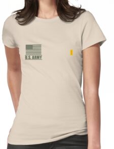 Second Lieutenant Infantry US Army Rank Desert by Mision Militar ™ Womens Fitted T-Shirt