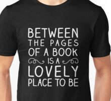 Between the Pages (white) Unisex T-Shirt