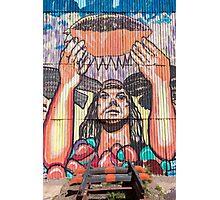 Old train station and Inca graffiti at Puente del Inca, Argentina Photographic Print