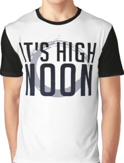 It's High Noon (Black/Blue) Graphic T-Shirt
