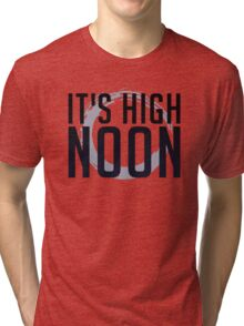 It's High Noon (Black/Blue) Tri-blend T-Shirt
