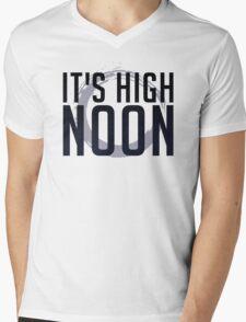 It's High Noon (Black/Blue) Mens V-Neck T-Shirt