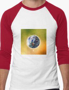 Digital design background Men's Baseball ¾ T-Shirt