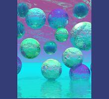 Ocean Dreams - Aqua and Violet Ocean Fantasy Unisex T-Shirt