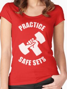 Practice Safe Sets Women's Fitted Scoop T-Shirt