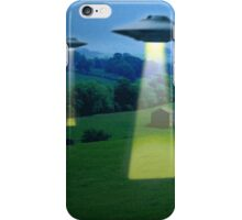 UFO in a meadow iPhone Case/Skin