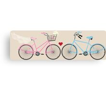 Two Bicycles Love Wedding Canvas Print