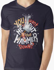 Hammer down Mens V-Neck T-Shirt