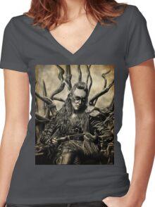 Commander Lexa Women's Fitted V-Neck T-Shirt