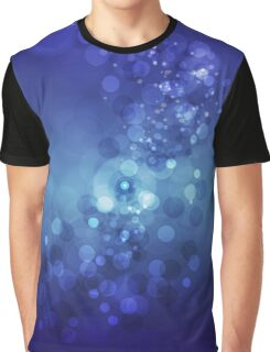 Deep Blue Ombre Bokeh Graphic T-Shirt
