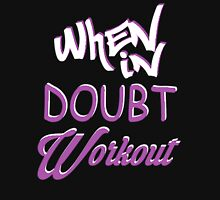 When In Doubt Workout Women's Fitted Scoop T-Shirt
