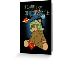 It Came from Outer Space - in technicolor Greeting Card