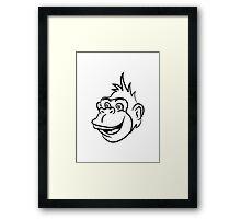 Gorilla monkey funny cool Framed Print