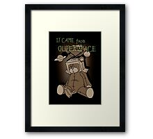 It Came from Outer Space - in sepiatone Framed Print