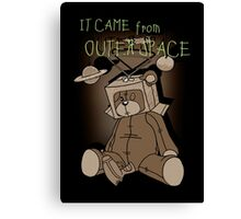 It Came from Outer Space - in sepiatone Canvas Print