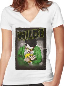 R.L. Amaro's WILDE (Graphic Novel Cover) Women's Fitted V-Neck T-Shirt