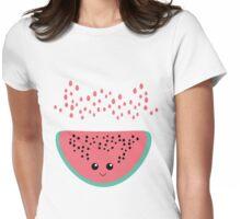 watermelon kawaii Womens Fitted T-Shirt